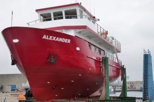 Ganzjährig Schiffstouren auf der Ostsee mit der MS-Alexander, ein modernes, nach den neuesten EU Vorschriften gebautes See- und Fahrgastschiff, das ausreichend Platz und Komfort für 90 Passagiere bietet.